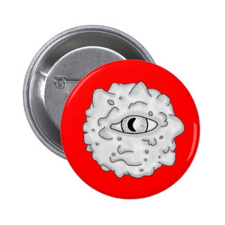 Rojo sustancioso del botón del globo del ojo pin
