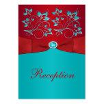 Rojo, tarjeta floral del recinto de la recepción d
