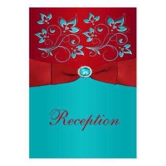 Rojo tarjeta floral del recinto de la recepción d