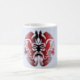 rojo, taza blanca clásica de Odin