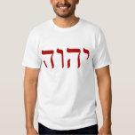 Rojo Tetragrammaton de YHWH Playera