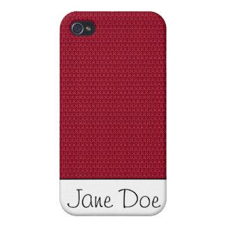 Rojo texturizado iPhone 4 funda
