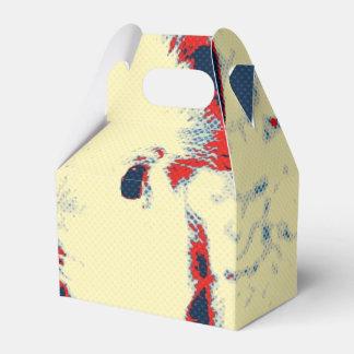 rojo toony del cochinillo dulce caja para regalos de fiestas