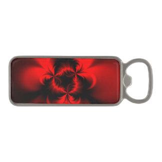 Rojo torcido abrebotellas magnético