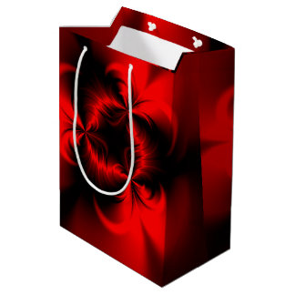 Rojo torcido bolsa de regalo mediana