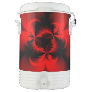 Rojo torcido enfriador de bebida igloo