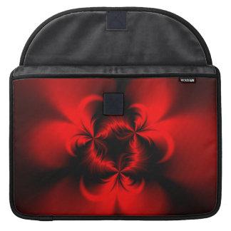 Rojo torcido fundas macbook pro