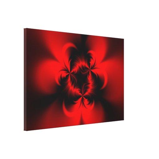 Rojo torcido lienzo envuelto para galerias