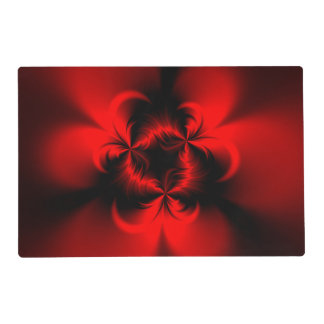 Rojo torcido tapete individual