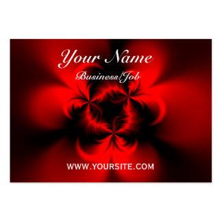 Rojo torcido tarjetas de visita grandes