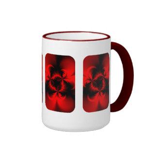 Rojo torcido taza de dos colores