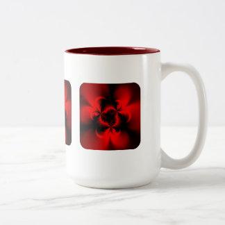 Rojo torcido taza de dos tonos