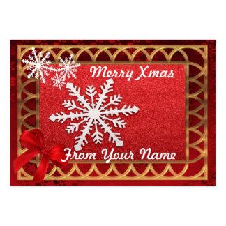 Rojo tradicional y etiqueta personalizada oro del tarjetas de visita grandes