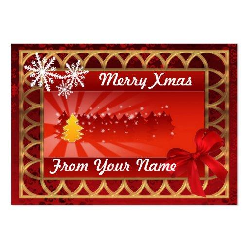 Rojo tradicional y etiqueta personalizada oro del  plantilla de tarjeta de negocio