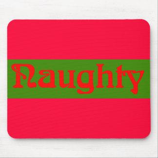 Rojo travieso en verde alfombrilla de ratón