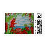 Rojo tropical sello