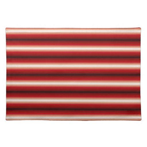rojo una línea negra modelo mantel individual