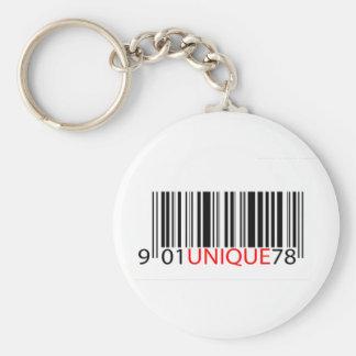 Rojo único del código de barras llavero personalizado