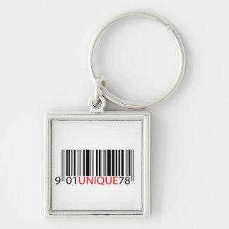 Rojo único del código de barras llavero
