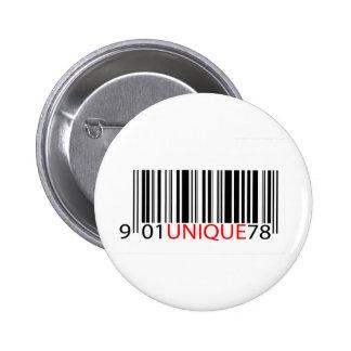 Rojo único del código de barras pin