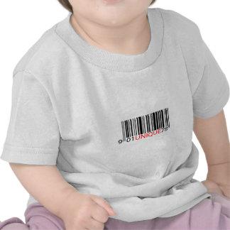 Rojo único del código de barras camiseta