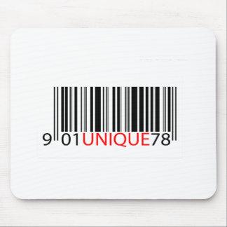 Rojo único del código de barras alfombrillas de ratones