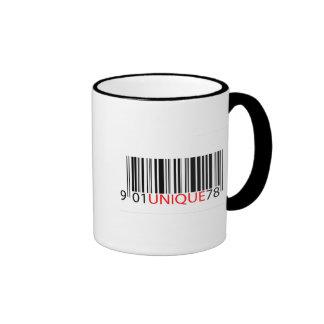 Rojo único del código de barras taza de café