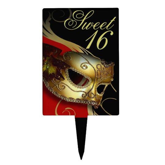 Rojo veneciano de la máscara del fiesta de la masc figura de tarta