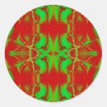 rojo verde claro pegatina redonda