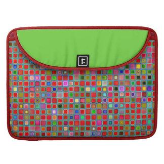 Rojo, verde de musgo y modelo de las tejas de la funda macbook pro