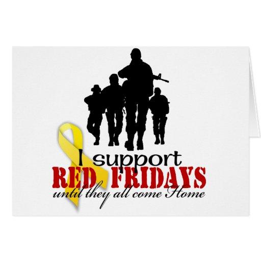 Rojo viernes de la ayuda felicitaciones