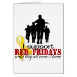 Rojo viernes de la ayuda tarjeta