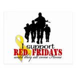 Rojo viernes de la ayuda tarjeta postal