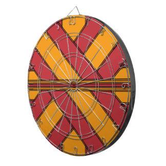 Rojo y abrigo anaranjado tabla dardos