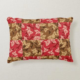 Rojo y almohada floral del otoño de los colores de cojín