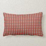 Rojo y almohadas de tiro modeladas Tiled> de la ag