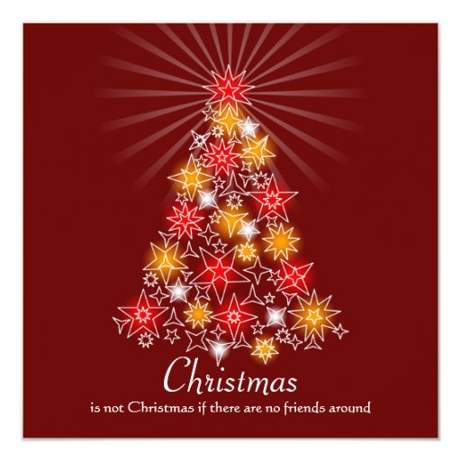Rojo y árbol de navidad de la estrella del oro anuncios personalizados