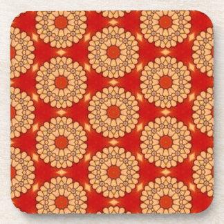 Rojo y artículo casero de encargo 03A del regalo Posavasos