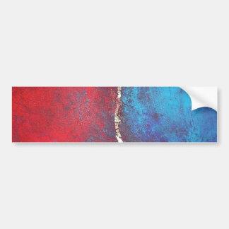 Rojo y azul con arte abstracto del arquero de Phil Pegatina De Parachoque