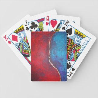 Rojo y azul con arte abstracto del arquero de Phil Baraja