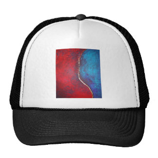 Rojo y azul con arte abstracto del arquero de Phil Gorras
