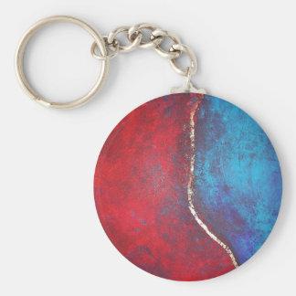 Rojo y azul con arte abstracto del arquero de Phil Llavero