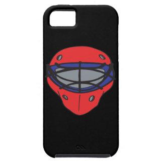 Rojo y azul de la máscara del portero funda para iPhone 5 tough