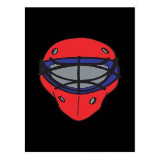 Rojo y azul de la máscara del portero tarjetas postales