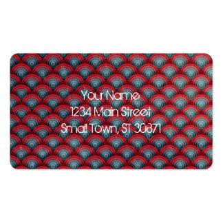 Rojo y azul de la superficie del espiral del fondo tarjetas de visita