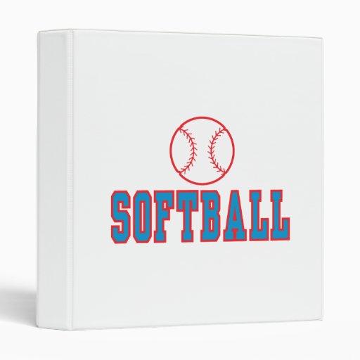 """rojo y azul del logotipo del softball carpeta 1"""""""