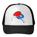 Rojo y azul del ping-pong gorra
