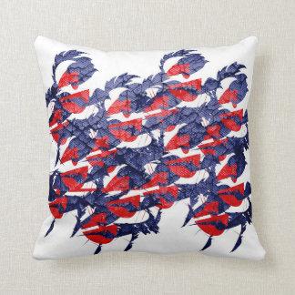 Rojo y azul dinámicos almohada
