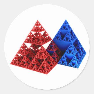 Rojo y azul pero NO Khufu… Pegatina Redonda