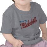 Rojo y azul sobre la camisa del bebé del Molehill